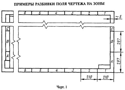 Примеры разбивки поля чертежа